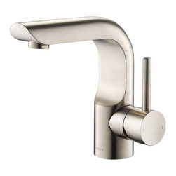 Isenberg Serie 195 195.1000BN - Single Handle / Hole Lavatory Faucet - bath faucet featured in Brushed Nickel finish is made of solid brass