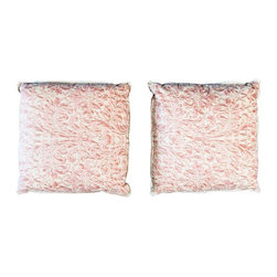 Used Fortuny Sevres Foliate Pillows - A Pair - This is a stunning pair! Made of Fortuny Sevres foliate fabric, these pillows are the ultimate luxury. Offered as a pair.
