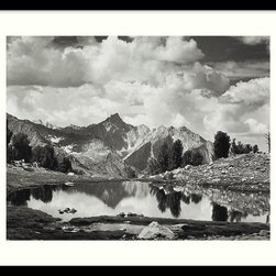 Amanti Art - Mount Clarence King, 1925 Framed Print by Ansel Adams - This photograph will take your breath away. The stunning black and white Ansel Adams reproduction artfully captures the serene beauty of the Sierra Nevada range. It comes custom framed and ready to hang. You'll never grow tired of looking at this magnificent shot.