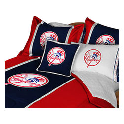 Store51 LLC - MLB New York Yankees Baseball Twin-Single Bed Comforter Set - Features: