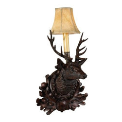 EuroLux Home - Wall Sconce Stag Deer Cast Resin Faux - Product Details