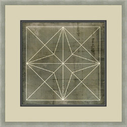 """Mantle Art Company - Vision Studio """"Geometric Blueprint I"""" fine art print - Beautiful modern art custom framed by designers to bring out the best in this piece of art. Made in the USA"""
