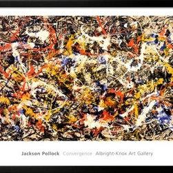 Artcom - Convergence by Jackson Pollock - Convergence by Jackson Pollock is a Framed Art Print set with a SOHO Black wood frame.
