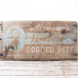 Rustic Wood Crate - Wedding Decor - A rustic wooden crate used to collect wedding cards. The washed out wood and light blue were perfect spring colors!