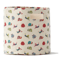 Pehr Designs - Bugs Bin - Tidy away books, trains and craft supplies. Great for your little one's treasures, or as a catch-all for the family. 100% heavy-weight durable cotton canvas.