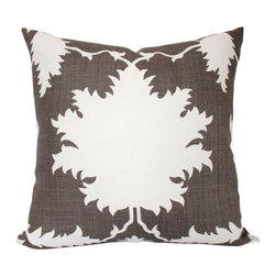 The Pillow Studio - Mary McDonald Garden of Persia Pillow Cover in Brown- Both Sides - I love this bold graphic fabric- perfect for a pillow!