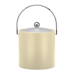Kraftware - Ice Bucket in Ivory - Chromed bale handle and flat knob. Frosted vinyl lid. Made in USA. 9 in. Dia. x 9 in. H (3 lbs.)Our Fun Colors Collection features the hottest colors for the season, to provide you with great entertaining items, with up to the minute styling. Great for indoor and outdoor entertaining.