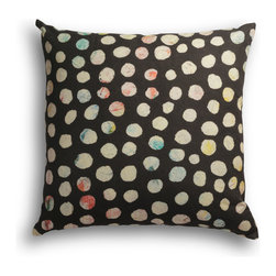 """Carrier Collective - """"Midnight Snow"""" Decorative Pillow - Crafted of linen/cotton fabrics, Carrier Collective Art Pillows are created from the original Mixed Media and Acrylic Paintings of the artist/owner Angie Carrier."""