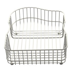 KOHLER - KOHLER K-6603L-96 Hartland Wire Rinse Basket for Left Hand Basin in Biscuit - KOHLER K-6603L-96 Hartland Wire Rinse Basket for Left Hand Basin in BiscuitProtect the beauty of your Hartland sink with the Hartland wire rinse basket. Designed to fit neatly into the bottom of the basin, this basket cushions fragile dishes and prevents damage to the sink's high-gloss enamel finish.KOHLER K-6603L-96 Hartland Wire Rinse Basket for Left Hand Basin in Biscuit, Features:• For use with Hartland sinks