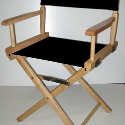 Yu Shan - Black Canvas Director's Chair w Natural Frame - Color: Royal BlueCanvas can be washed by cold water only . For indoor use only. 18 in. Seat Height. Frame Color: Natural. Canvas Color: Pictured in Black. Weight Capacity: 250 lbs. 33.75 in. H x  20.5 in. W x 15.75 in. D