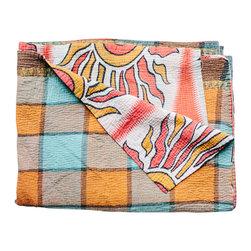 Vintage Kantha Blanket Mira - One of a kind vintage kantha blanket