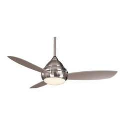 Minka Aire Fans - Concept I Wet 52 in. Ceiling Fan with Optional Light by Minka Aire Fans - Simple, chic design for outdoor enjoyment. Rated for wet locations, the Minka Aire Concept I Wet 52 in. Ceiling Fan is an understated and easy-to-install option for the patio or pool area. Includes a wall-mounted remote with 3 forward/reverse fan speeds and advanced light dimming capabilities.The Minka Group, located in Corona, CA, offers a variety of products, including Minka Aire fans, Minka Lavery lighting, and George Kovacs fans and lighting.The Minka Aire Concept I Wet 52 is available with the following:Details:Opal frosted glass shadeFrosted glass shade