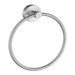 Smedbo - Smedbo Home 6 3/4 Inch, Towel Ring, Brushed Chrome - Smedbo Home 6 3/4 Inch, Towel Ring, Brushed Chrome