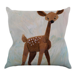 """Kess InHouse - Rachel Kokko """"Oh Deer"""" Throw Pillow (16"""" x 16"""") - Rest among the art you love. Transform your hang out room into a hip gallery, that's also comfortable. With this pillow you can create an environment that reflects your unique style. It's amazing what a throw pillow can do to complete a room. (Kess InHouse is not responsible for pillow fighting that may occur as the result of creative stimulation)."""