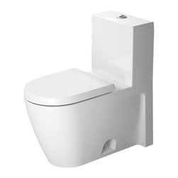 "Duravit - Duravit 2133010005 White Starck 2 Starck 2 Toilet One-Piece - Starck 2 Toilet One-Piece(Without Seat) Duravit 2133010005 Product Descriptions One Piece Design Single Flush Piston Valve Top Flush 12"" Rough In 1.28 Gallons Per Flush"