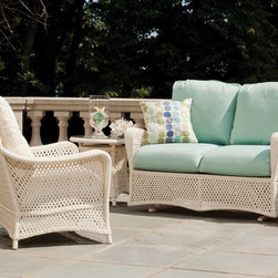 Lloyd Flanders Grand Traverse Love Seat and Chair - Lloyd Flanders Grand Traverse love seat and chair provide a classy touch to the patio or porch chat area.