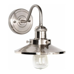 Maxim Lighting - Maxim 25080PN Polished Nickel Mini Hi-Bay 7.75 Inch 1 Light Indoor Wall Sconce - Excellent Cone Shaped Shade