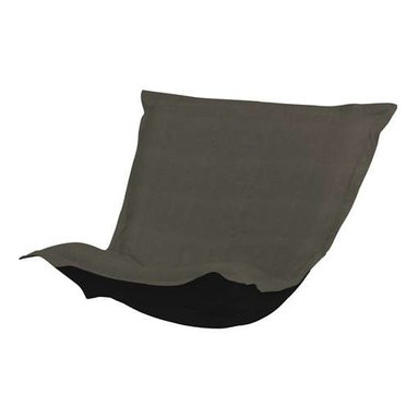 Howard Elliott Sterling Charcoal Puff Chair Cushion - Extra Puff Cushions in Sterling are a great way to get a fresh new look without the expense of buying a whole new chair! Puff Cushions fit Scroll and Rocker frames. This Sterling cushion features a linen-like texture in a deep sultry charcoal grey.