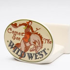 "ATD - 2.63 Inch Road Trip ""Come See the Wild West"" Cowboy Napkin Holder - This gorgeous 2.63 Inch Road Trip ""Come See the Wild West"" Cowboy Napkin Holder has the finest details and highest quality you will find anywhere! 2.63 Inch Road Trip ""Come See the Wild West"" Cowboy Napkin Holder is truly remarkable."