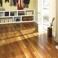 Hilea Uniclic - Bamboo Baked Natural in Mohawk Flooring Hardwood