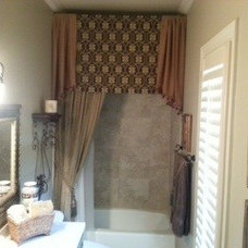 Traditional Bathroom by Kathy McKinley Draperies by Design