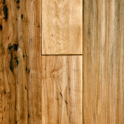 """Virginia Mill Works 3/4"""" x 5"""" Hickory Handscraped - If you're looking for flooring that fits that cabin chic style, then hardwood is definitely the way to go. The hand-scraped oak planks look broken-in (in a good way), kind of like your favorite jeans."""