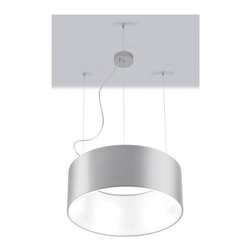 Zaneen - Cyclos 5-Light Suspension Pendant in Silver - Requires five 18 watt compact fluorescent biax G24q2 base T4 bulbs