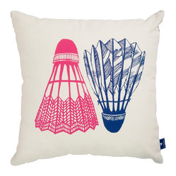 Shuttlecock Cushion Cover