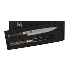 Shun - Shun Premier 2 Pc Carving Knife Boxed Set - Shun Premier 2 Pc Carving Knife Boxed Set - TDMS0200  Includes: