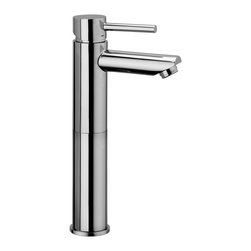 "WS Bath Collections - Stick Single Lever Bathroom Faucet - Stick by WS Bath Collections, Single Lever Bathroom Faucet, Available in Polished Chrome, Mat Chrome, or Stainless Steel Finish, Made in Italy, Single Lever Bathroom Faucet with 4.9"" Height Extension Available in Polished Chrome, Mat Chrome, or Stainless Steel Finish Solid Brass Base, Wall-Mounted Installation Single Lever Controls Flow Rate and Temperature, Made in Italy"