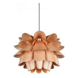 ParrotUncle - Fantasy Hula Skirt Plywood Pendant Lamp - Fantasy Hula Skirt Plywood Pendant Lamp