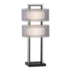 Nova Lighting - Nova Lighting 3349 Amarillo Silver Accent Table - Nova Lighting 3349 Amarillo Silver Accent Table