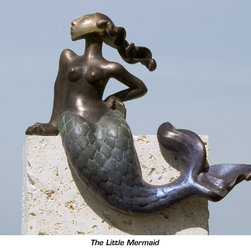 The Littlest Mermaid - Nina Winters - Bronze- can be commissioned in any size