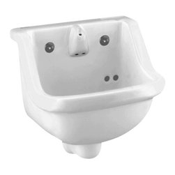 "American Standard - Prison 14"" Wall Mounted Bathroom Sink with Integral Spout and Drinking Nozzle - American Standard 0421.018.020 Prison 14"" Wall Mounted Bathroom Sink with Integral Spout and Drinking Nozzle in White."