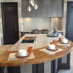 Custom Burmese Teak Wood Countertop in Denver - Countertop Wood: Burmese Teak