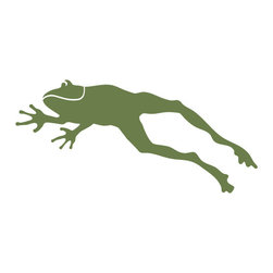 My Wonderful Walls - Frog Stencil for Painting - Frog wall stencil