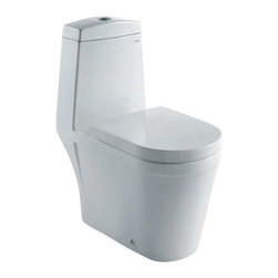 Atlas International - Ariel Royal CO1024 Dual Flush Toilet - Ariel cutting-edge designed one-piece toilets with powerful flushing system. It's a beautiful, modern toilet for your contemporary bathroom remodel.