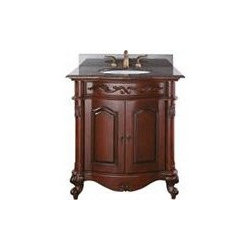 Avanity Provence 30 In. Vanity - The Provence Collection is offered in a beautiful distressed cherry wood finish with hand carved French details.