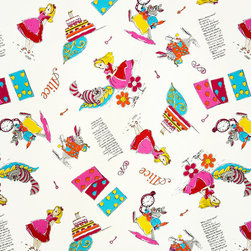 Alice in Wonderland Fabric, Standard Cut - An Alice in Wonderland fabric! Oh, joy, oh, joy! We have not had an Alice fabric in a long time!