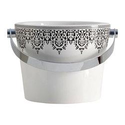 Scarabeo - Decorative Ceramic Bathroom Bucket Sink - Modern style vessel bathroom bucket sink.