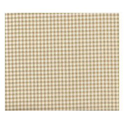 """Close to Custom Linens - 90"""" Tablecloth Round Gingham Check Linen Beige - A charming traditional gingham check in linen beige on a cream background. Includes a 90"""" round cotton tablecloth."""