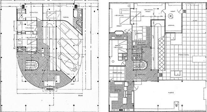 Villa Savoye Plan Dwg Villa Savoye Ground Floor Plan