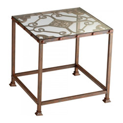 Joshua Marshal - Decorative Rust Alamosa Side Table - Decorative Rust Alamosa Side Table
