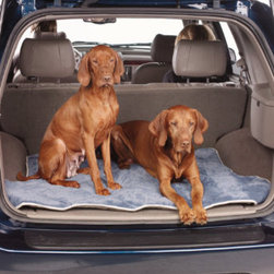 Grandin Road - SUV Luxury Pet Mat - Contoured to fit the rear cargo area of a mid-size SUV. Reversible, two-color design has contrasting trim. Diamond quilting helps prevent fiber from shifting or clumping. Machine washable and dryable. Our SUV Luxury Pet Mat protects your vehicle's interior while letting your dog ride in comfort. This plush microvelvet fabric cover protects your car from Rover's romp in dirt and water, and easily shakes clean of pet hair. . . . .