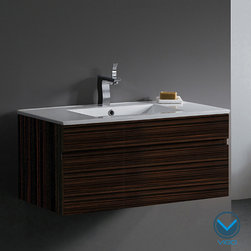Vigo - Vigo 35-Inch Single Bathroom Vanity Cabinet - This durable, stylish VIGO bathroom vanity is easy to fall in love with. No other brand can match VIGO's style, quality and design.