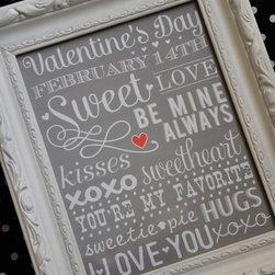 Valentine's Day Subway Art - Just add a frame to this subway art print for the perfect decor.