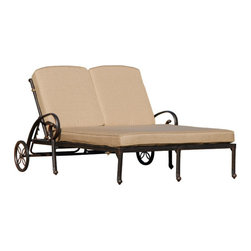 AFD Home - AFD Home Fiesta Double Chaise Lounge - Double Chaise Lounge in the Fiesta collection by Art Frame Direct