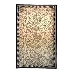 Safavieh - Rug in White and Black (1 ft. 8 in. x 2 ft. 6 in) - Size: 1 ft. 8 in. x 2 ft. 6 in. American Country and turn-of-the-century European designs. Hand Hooked. 100% Wool Pile.