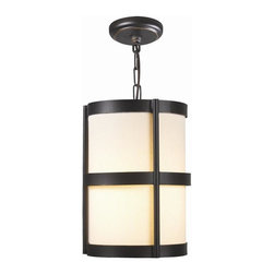 World Imports - Edmonton 1 Light Pendant w Shade in Euro Bron - Manufacturer SKU: WI143229. Bulbs not included. Canopies arch down and capture chain. Euro Bronze Finish. Hard back linen shades in sturdy iron frames. Edmonton Collection. 1 Light. Power: 100w. Type of bulb: Medium (Regular). Euro Bronze finish. 10 ft. Chain & 12 ft. Wire. 8 in. D x 12 in. H (6.54 lbs.)Perfect for lofts, tall foyers, even commercial applications, simplicity at its best