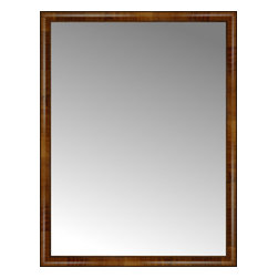 """Posters 2 Prints, LLC - 40"""" x 52"""" Belmont Light Brown Custom Framed Mirror - 40"""" x 52"""" Custom Framed Mirror made by Posters 2 Prints. Standard glass with unrivaled selection of crafted mirror frames.  Protected with category II safety backing to keep glass fragments together should the mirror be accidentally broken.  Safe arrival guaranteed.  Made in the United States of America"""